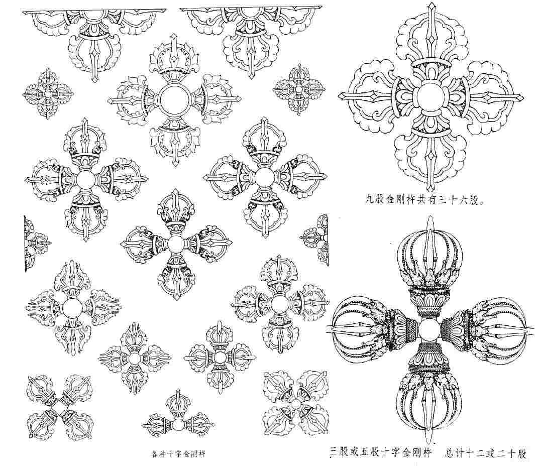 十字金刚杵(梵文_纹身图案图片