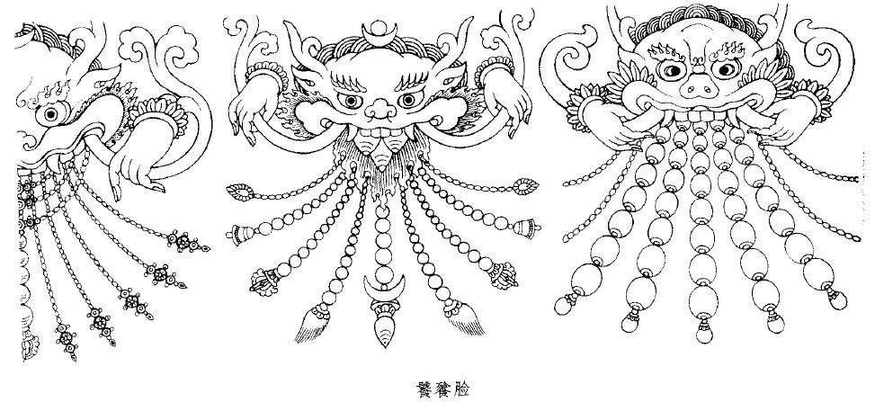 青铜器饕餮花纹图片